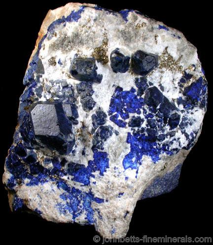 Multiple Lazurite Crystals