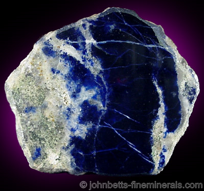 Polished Deep-Blue Lazurite Slab