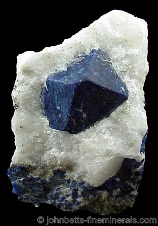 Lazurite Octahedral Crystal