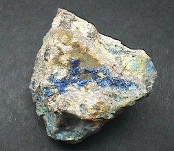 Blue Linarite Vein