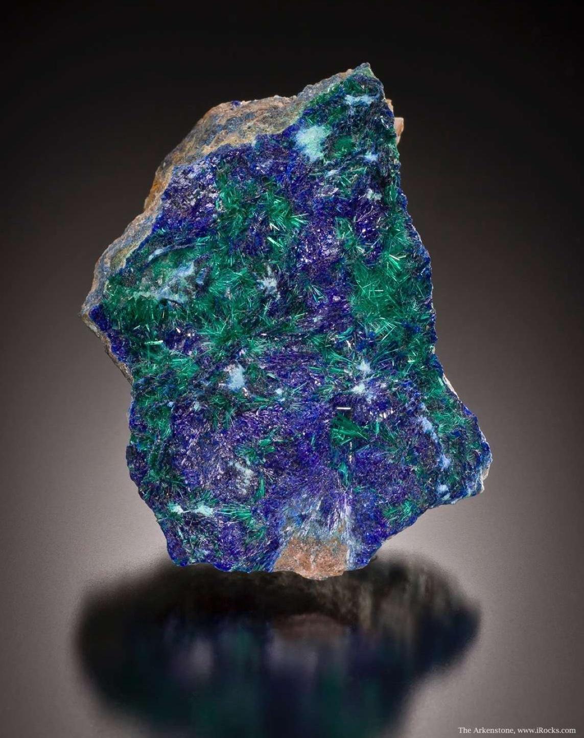 Bright Linarite with Brochantite