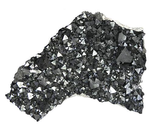 Octahedral Magnetite Crystal Cluster