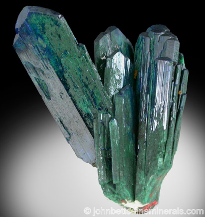 Azurite partially altered to Malachite