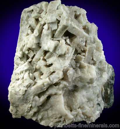 White Meionite Crystal Cluster from Goodall Farm Quarry, Sanford, York County, Maine