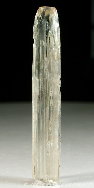 Elongated Prismatic Meionite Crystal