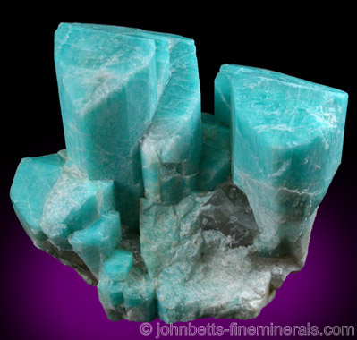 Microcline var. Amazonite from Lake George District, Park County, Colorado
