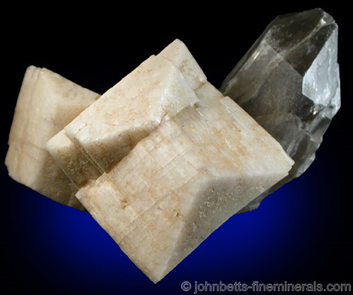 Microcline Twins with Smoky Quartz from Moat Mountain, Hale's Location, Carroll County, New Hampshire