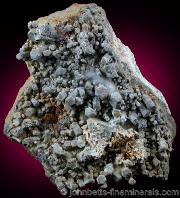 Gray Hexagonal Nepheline Crystals
