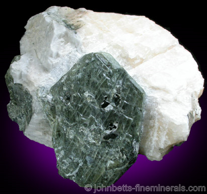 Dark Green Forsterite Crystal