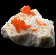 Bright Orange Orpiment on Barite
