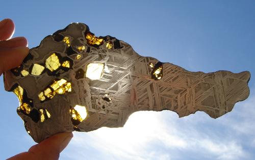Olivine in Pallasite Meteorite