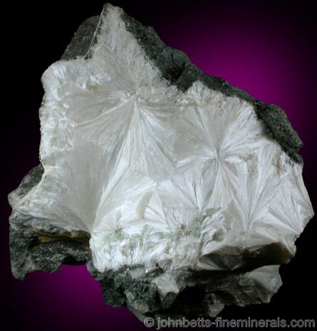 White Pectolite Mass