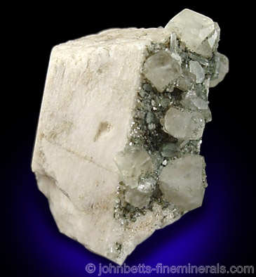 Phenakite on Microcline