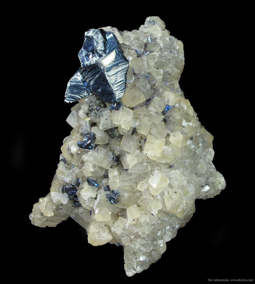 Proustite on Calcite Crystals