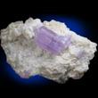 Purple Apatite on Albite