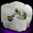 Pyrite in White Quartz