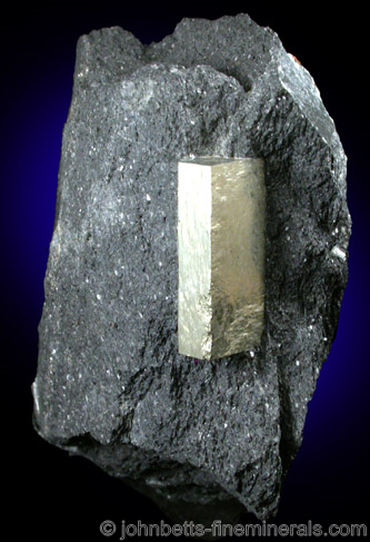 Elongated Pyrite Crystal in Schist