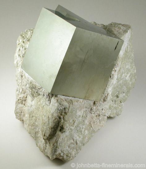 Intergrown Pyrite Cube in Matrix