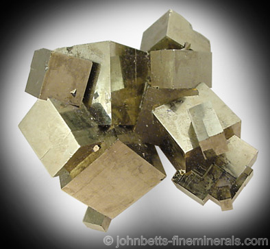 Pyrite Cubic Crystal Cluster