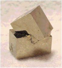 Twinned Pyrite Cubes