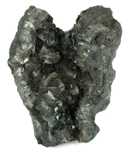 Sharp Crystallized Pyrolusite