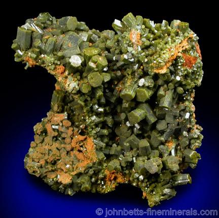 Sharp Pyromorphite Crystals