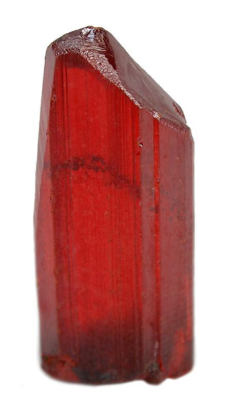 Transparent Prismatic Realgar Crystal