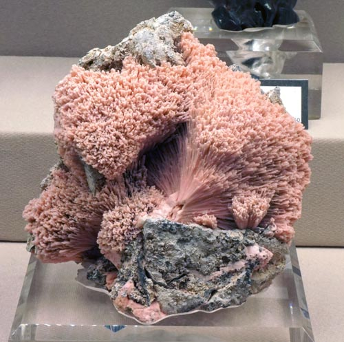 Radiating Pink Rhodochrosite Crystals