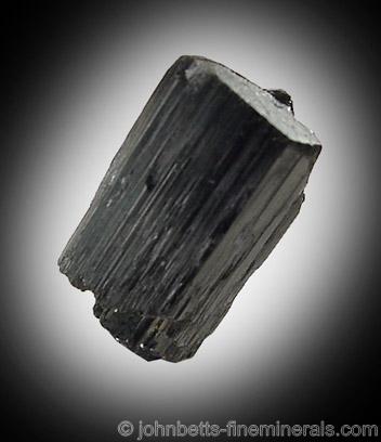 Black Riebeckite Crystal