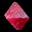 Ruby Spinel Octahedron