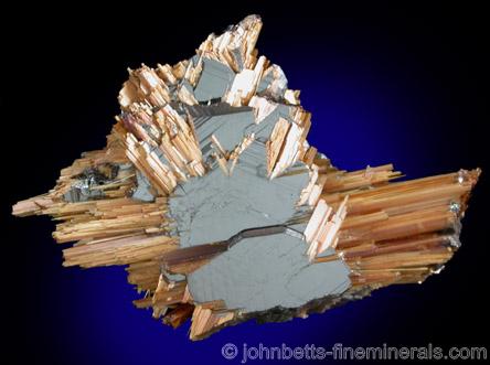 Golden Rutile with Hematite