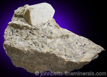 Sanidine Crystal in Granite Matrix from Howard's Dike, Willow Creek, Colorado