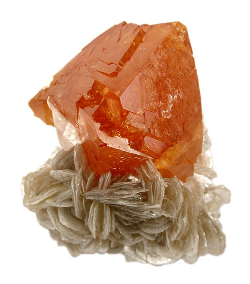 Bright Orange Sharp Scheelite