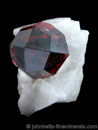 Perfect Spessartine Crystal on Matrix