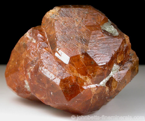 Orange Spessartine with Magnetite