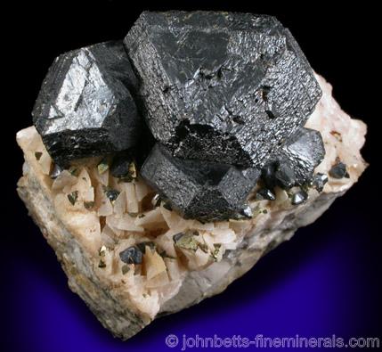 Large Black Sphalerite on Dolomite