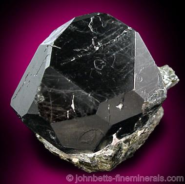 Black Complex Spinel Crystal