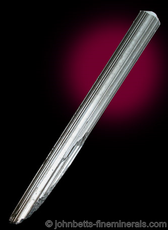 Elongated Sword-like Stibnite Crystal