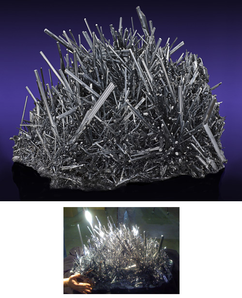 Gigantic Incredible Stibnite Crystal Mass