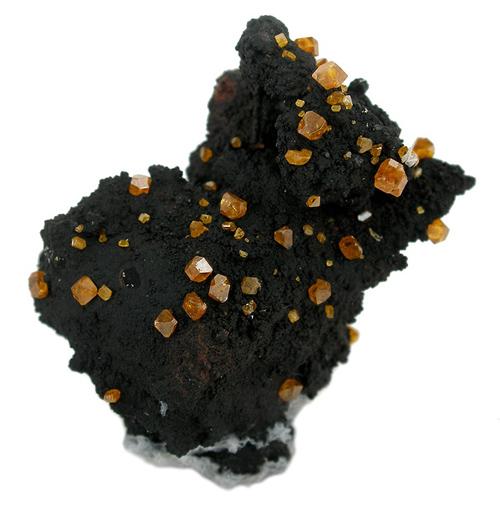 Orange Stolzite on Matrix from Broken Hill, Yancowinna Co., New South Wales, Australia