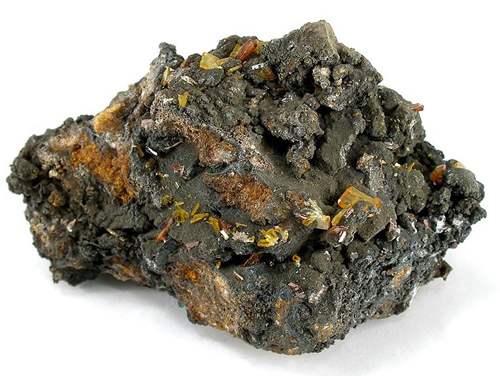 Tabular Stolzite with Raspite