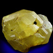 Large Sulfur Crystal with Bitumen