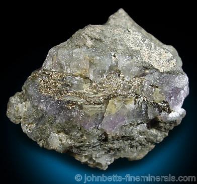 Sylvanite Vein with Quartz & Fluorite