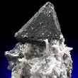 Triangular Tennantite on Quartz