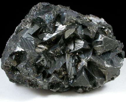 Cluster of Large Tetrahedrite Crystals