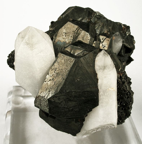 Large Tetrahedrite Crystal in Quartz