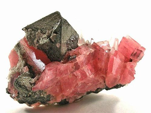 Tetrahedrite with Rhodochrosite