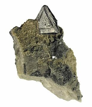 Triangular Tetrahedrite Crystal