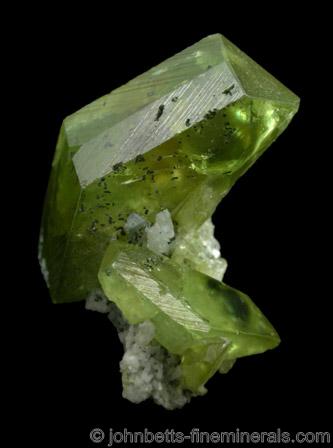 Green, Transparent Titanite Cluster
