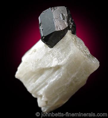 Titanite on Contrasting Calcite